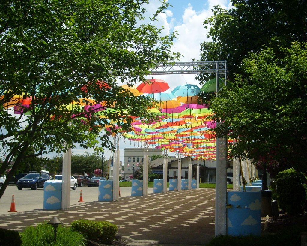 Batesville's Umbrella Sky Project